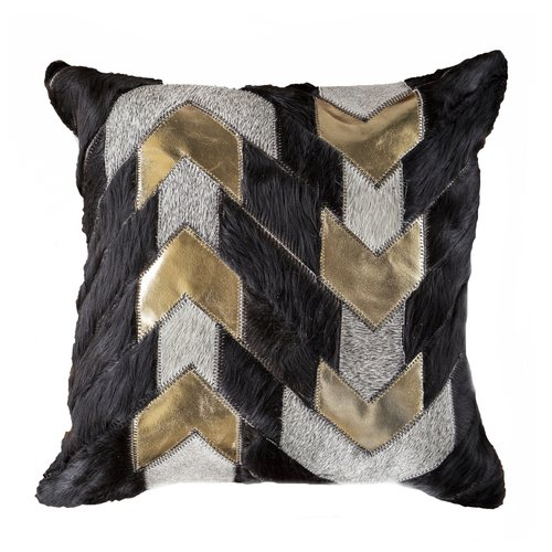 Gold Leather Arrow Cushion