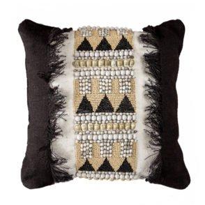 Jaeben Black Tribal Cushion