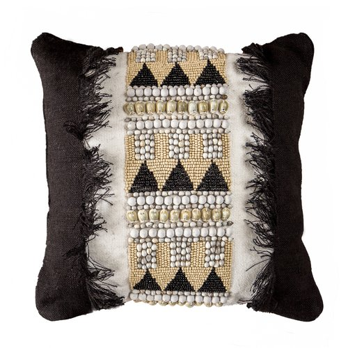 Jaeben Black Tribal Cushion