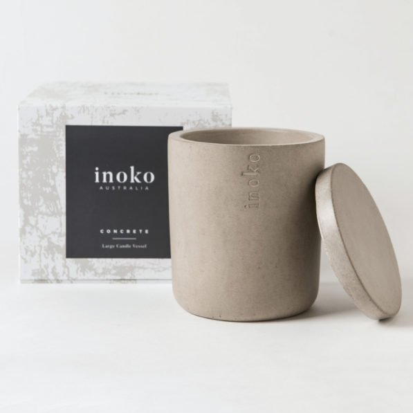 Inoko Large Candle Vessel - Concrete