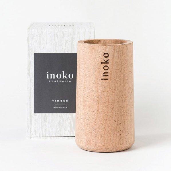 Inoko Diffuser Vessel - Natural Wood