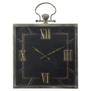 Square Metal Clock with Handle